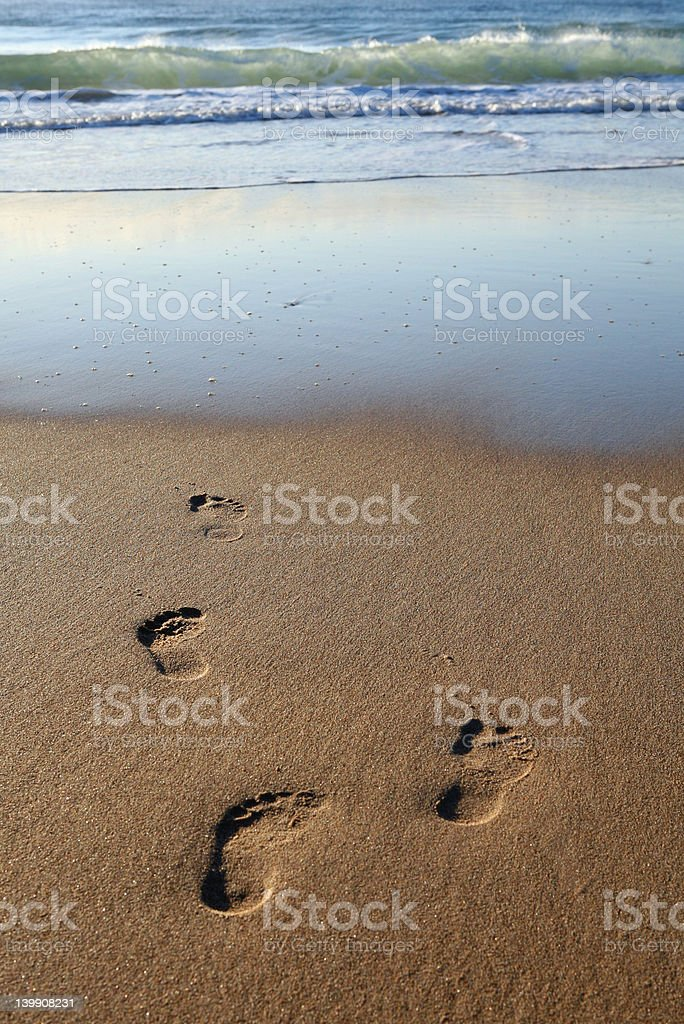 Early Morning Footprints royalty-free stock photo
