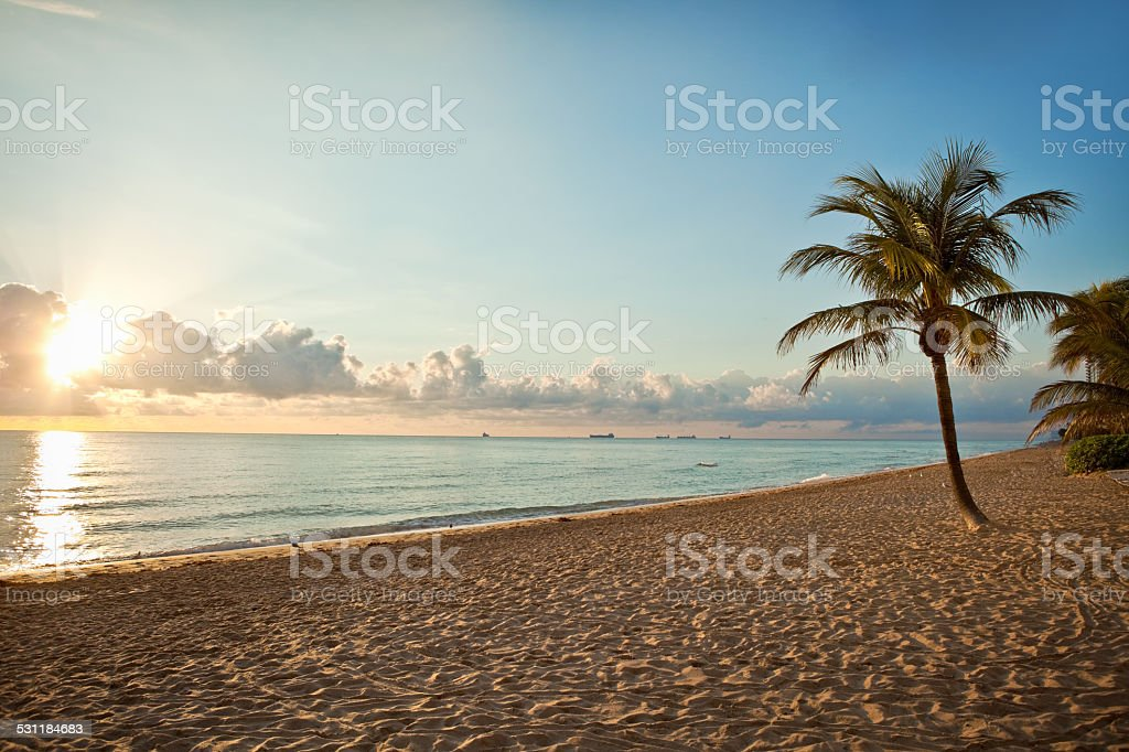 Early Morning Ft. Lauderdale Beach stock photo