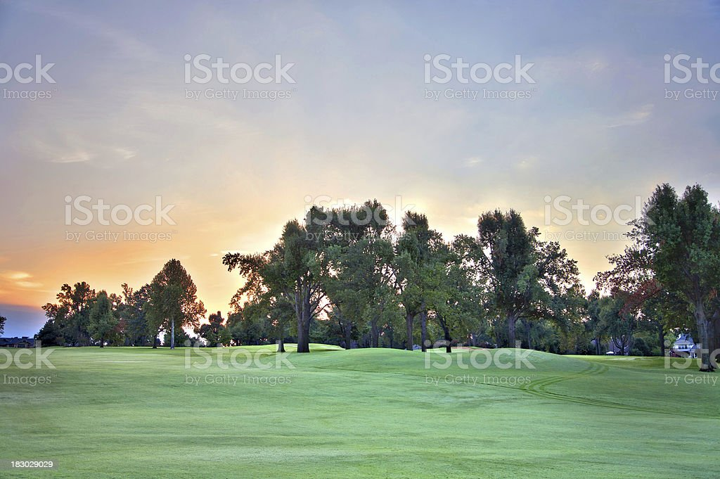 Early Morning Golf Course stock photo