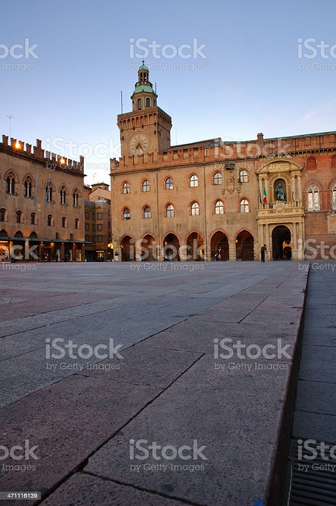 Early morning in Bologna royalty-free stock photo