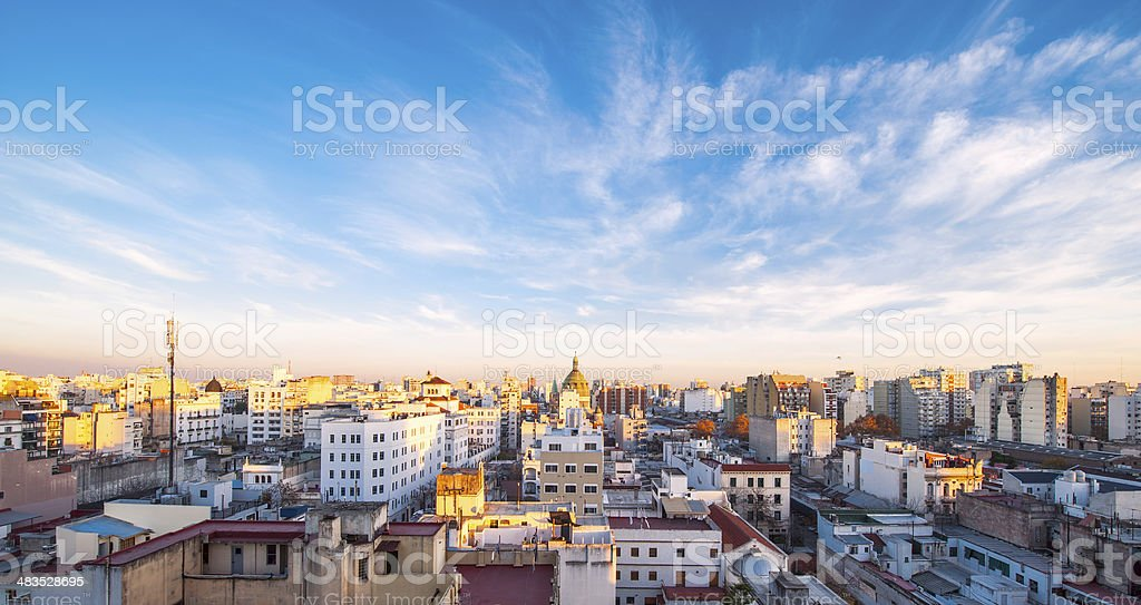 Early morning in Buenos Aires, Argentina stock photo