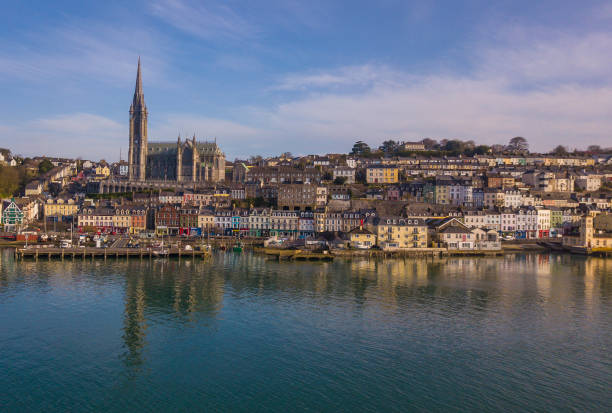 Early morning in Cobh, county Cork, Ireland. stock photo