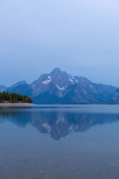Early Morning in Colter Bay Village stock photo