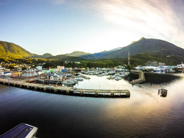 early morning in ketchikan alaska port early morning in ketchikan alaska port ketchikan stock pictures, royalty-free photos & images