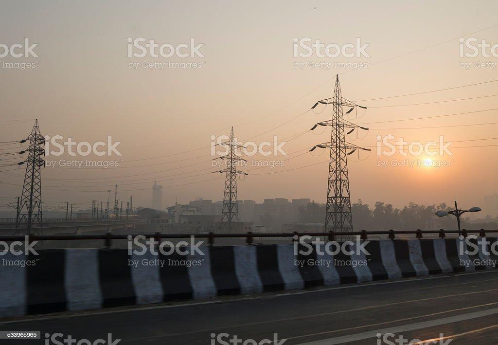 Early Morning in New Delhi stock photo