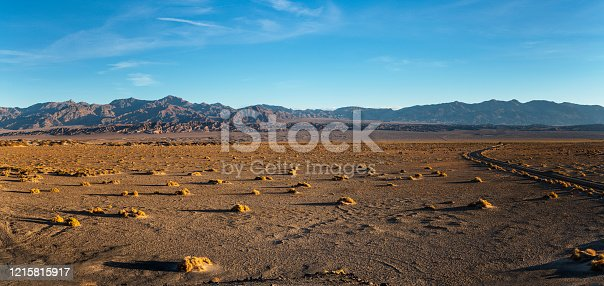Early morning in the desert in Death Valley, California, USA
