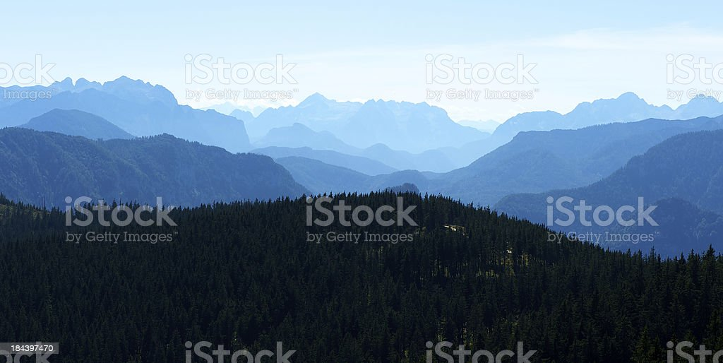 Early morning in the mountains royalty-free stock photo