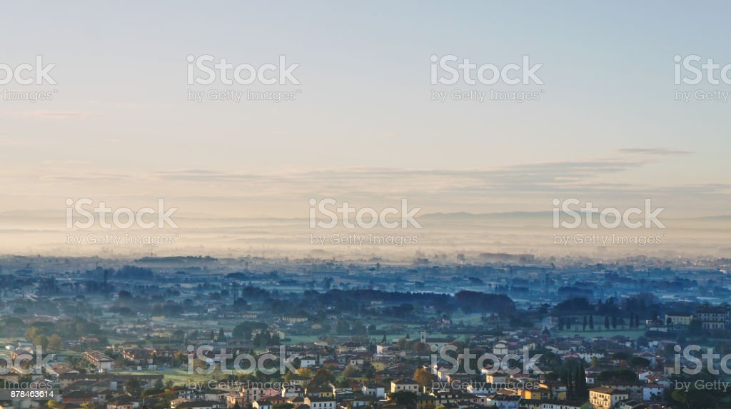 Early morning in Tuscanny royalty-free stock photo