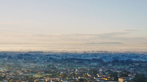 Early morning in Tuscanny stock photo