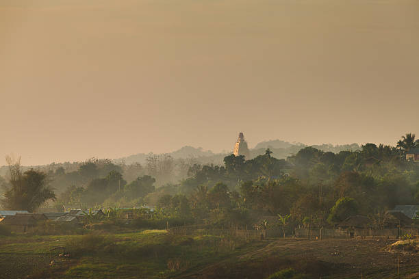 Early Morning Landscape in the West of Thailand stock photo