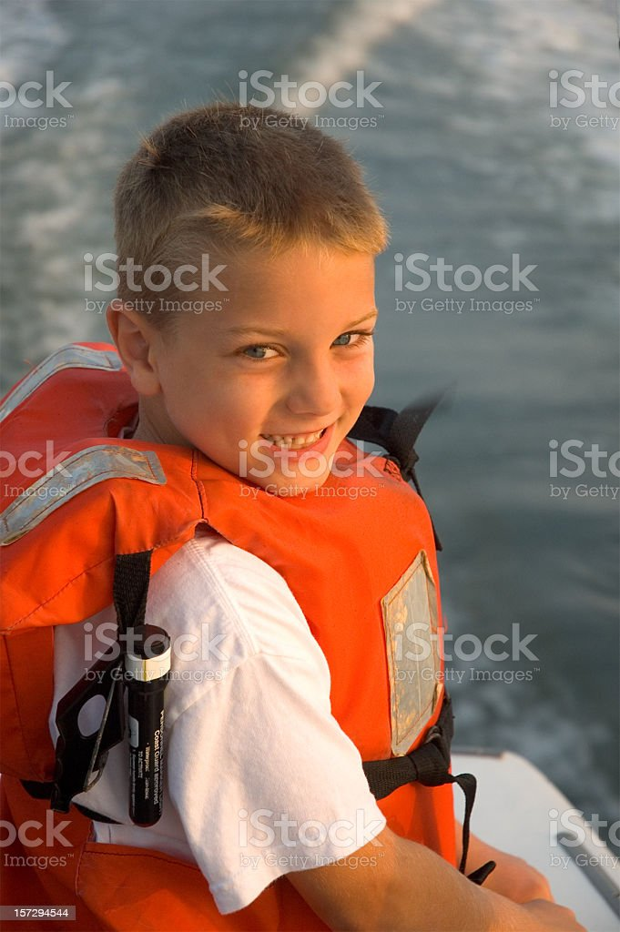 Early Morning Life Vest royalty-free stock photo