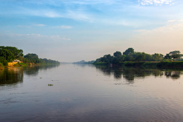 Early Morning Magdalena River stock photo