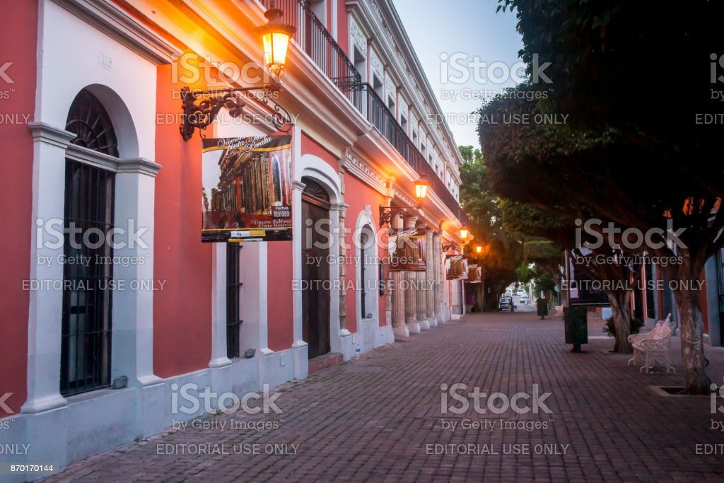 Early Morning Mazatlan Downtown stock photo