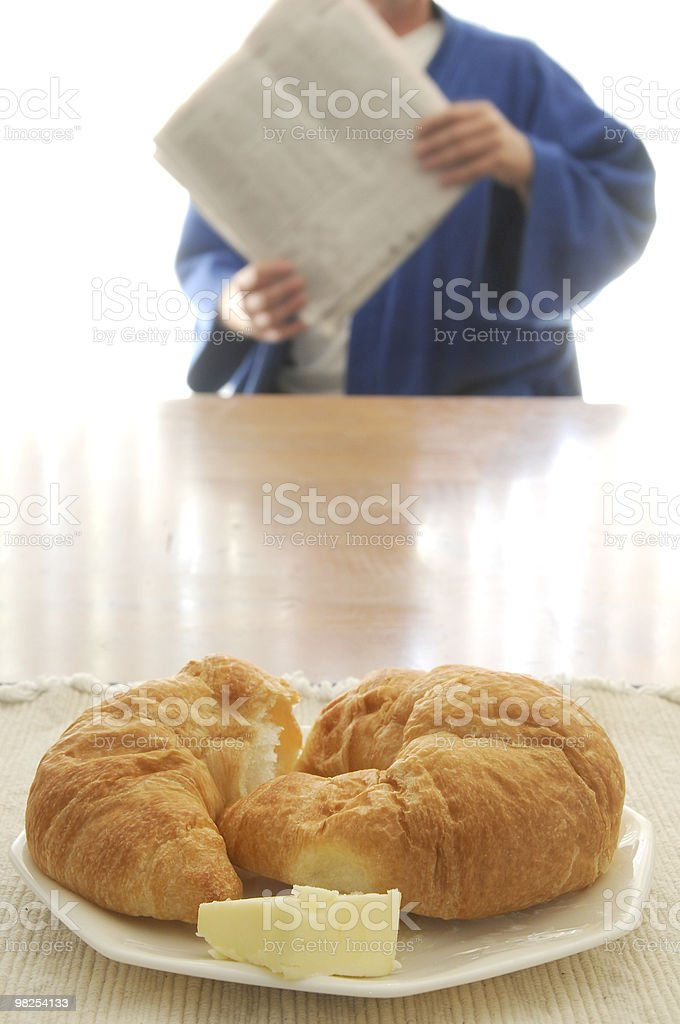 Early Morning Newspaper royalty-free stock photo