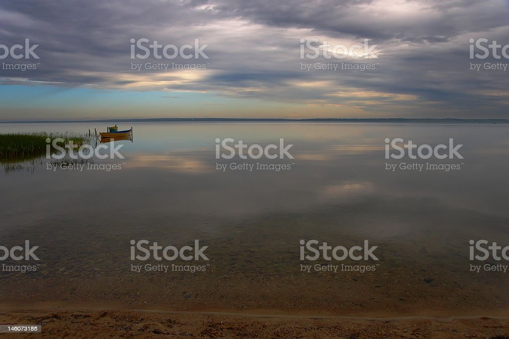 Early morning on a quiet lake royalty-free stock photo