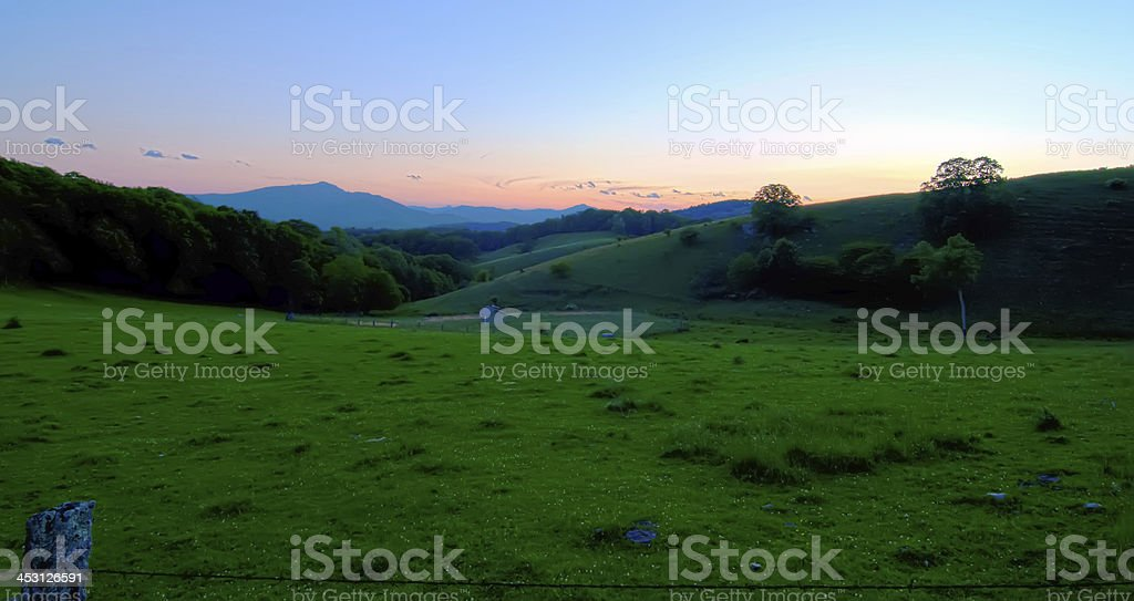 early morning on blue ridge parkway royalty-free stock photo
