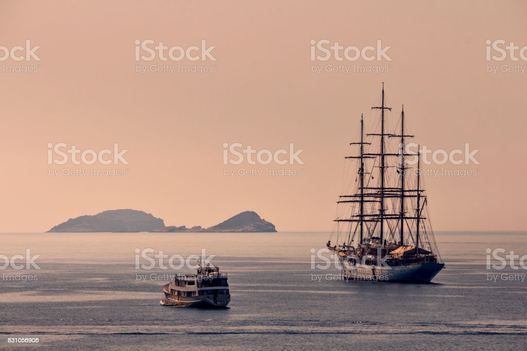 Early morning on the Adriatic sea stock photo