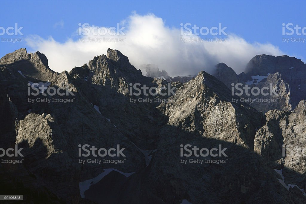 Early morning on the Dolomites stock photo