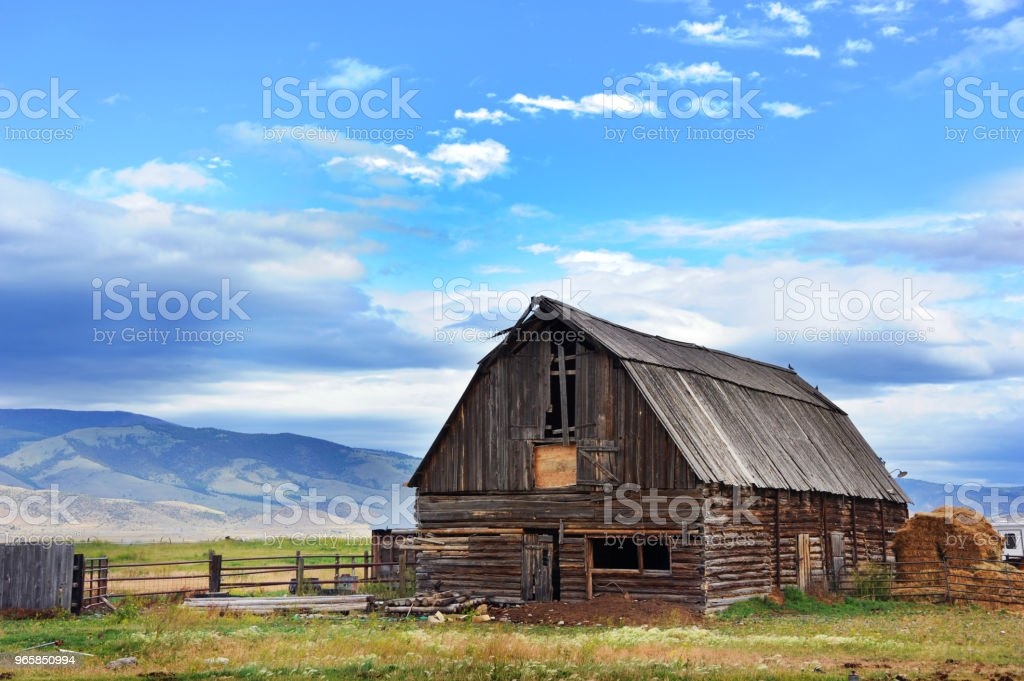 Early Morning on the Farm - Royalty-free Agricultural Field Stock Photo