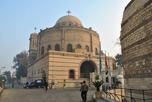 Am frühen Morgen auf der Straße im koptischen Bereich in Kairo – Foto