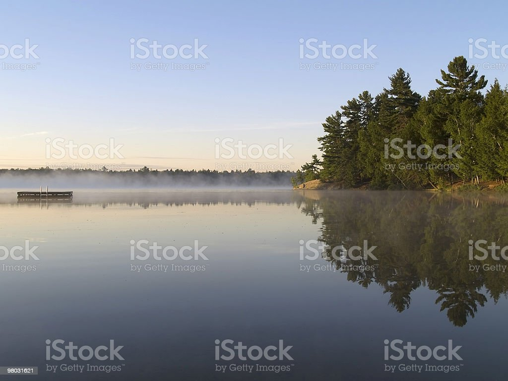Early Morning on Wilderness Lake royalty-free stock photo