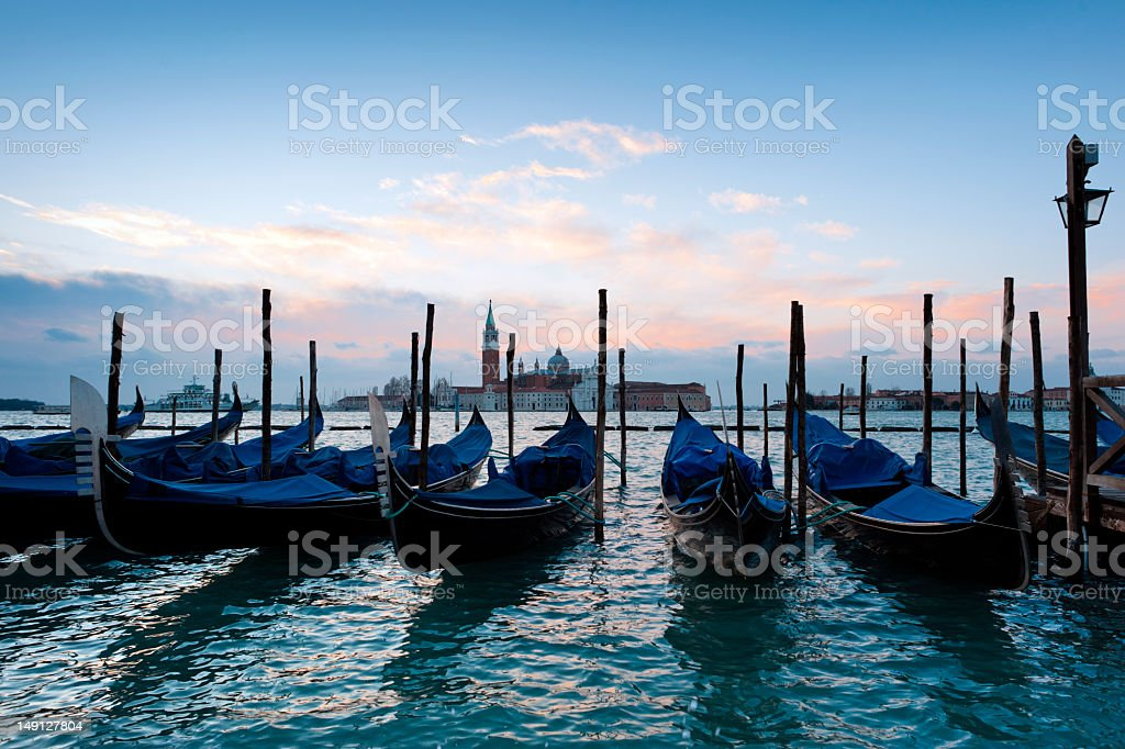 Early morning over the Venice Grand Canal royalty-free stock photo