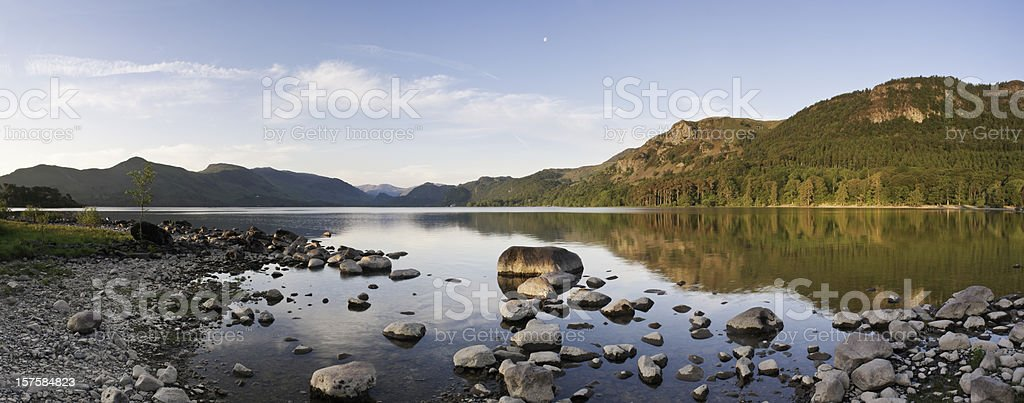 Early morning reflections on Derwent water, UK. royalty-free stock photo
