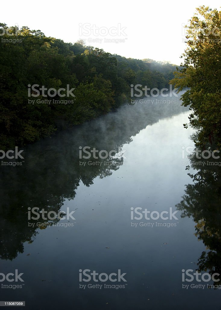 early morning river bend royalty-free stock photo