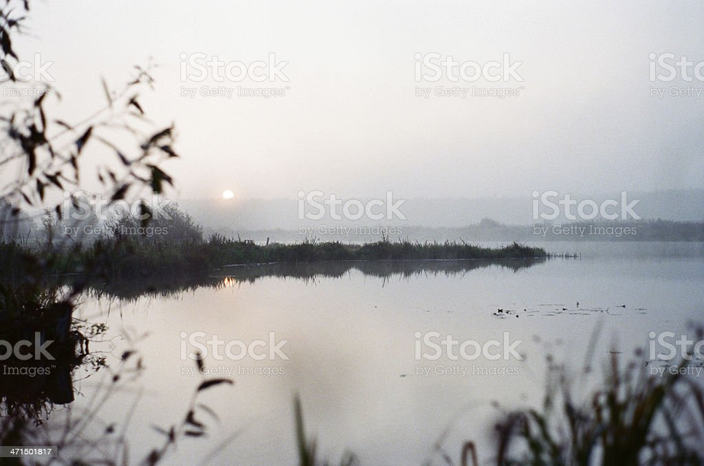Early morning  river royalty-free stock photo