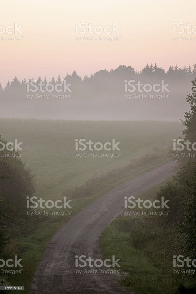 Early morning road royalty-free stock photo