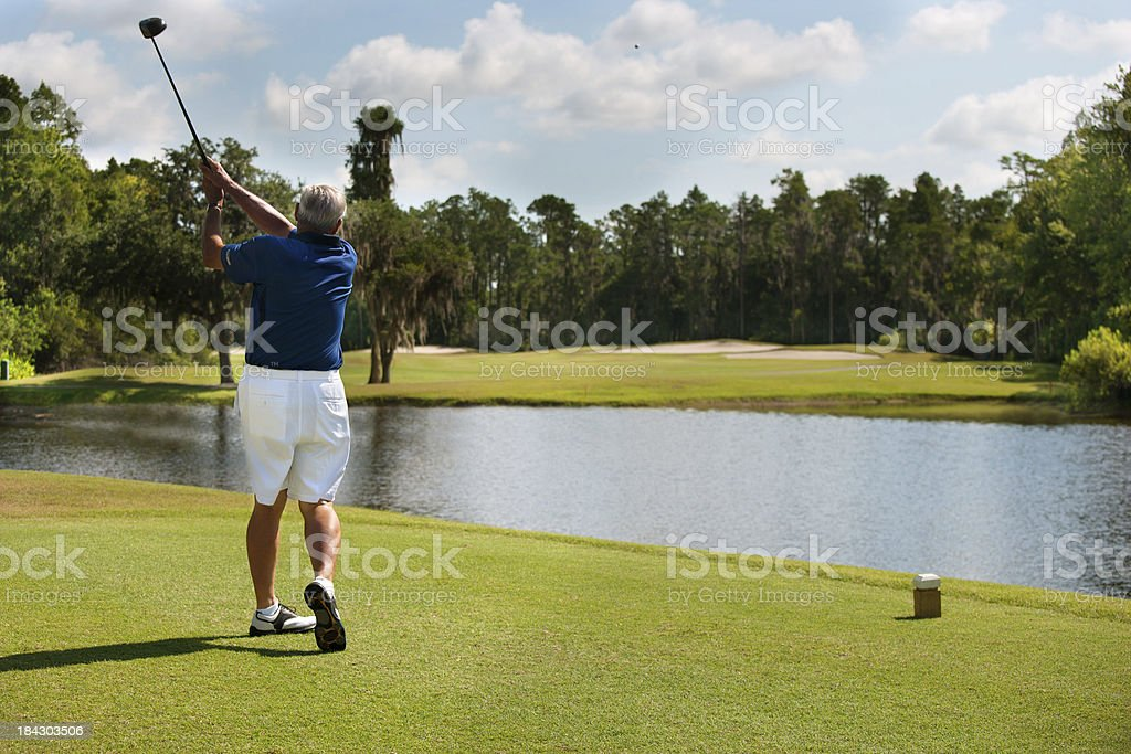 Early morning round of Golf royalty-free stock photo