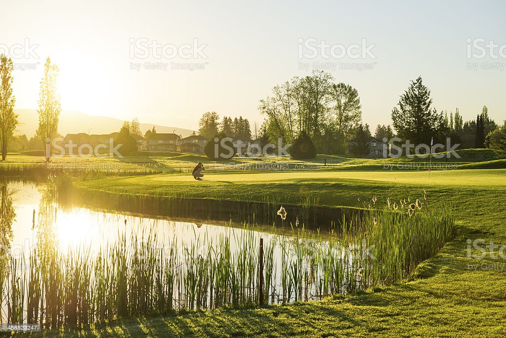 Early Morning Round of the Golf stock photo