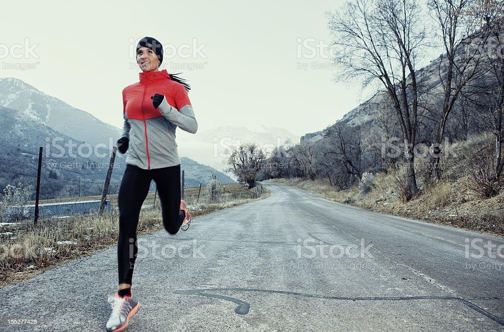 Early Morning Run stock photo
