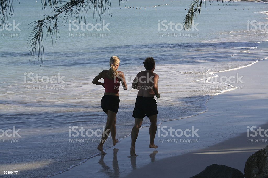 Early morning runners royalty-free stock photo
