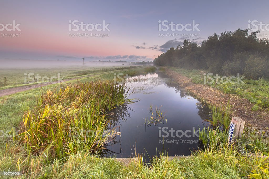 Early Morning scene of  canal stock photo