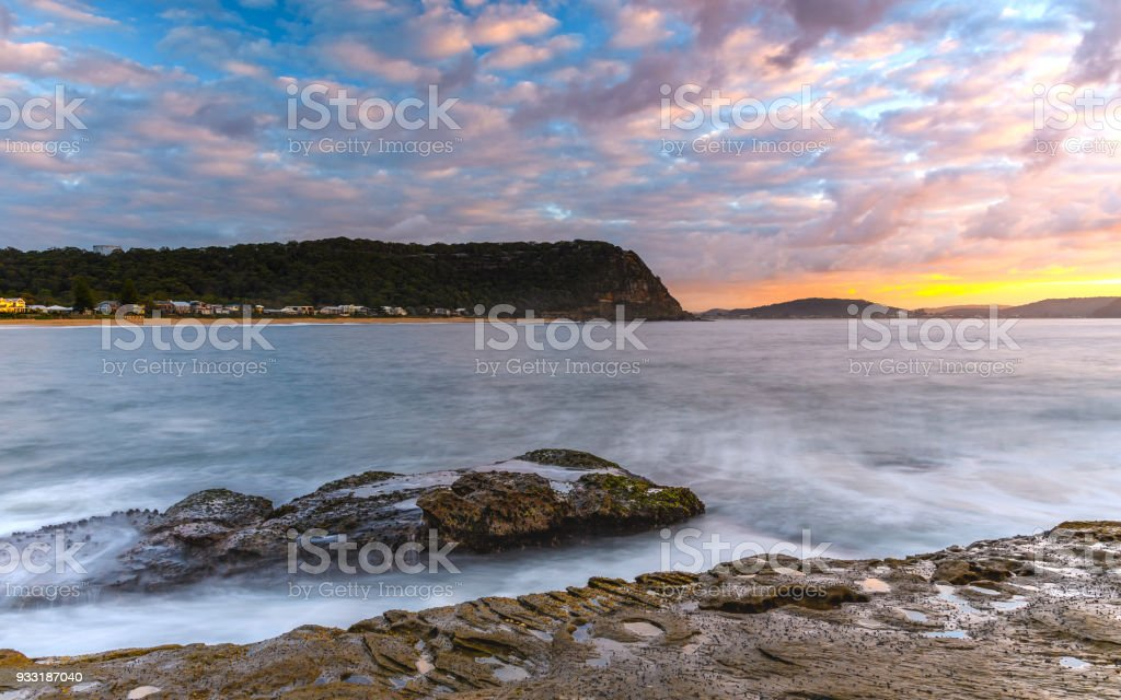 Early Morning Seascape with Couds stock photo