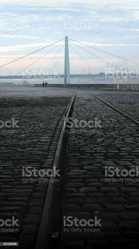 Early morning Severinsbrücke, Cologne stock photo