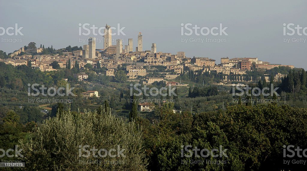Early Morning Skyline of San Gimignano royalty-free stock photo