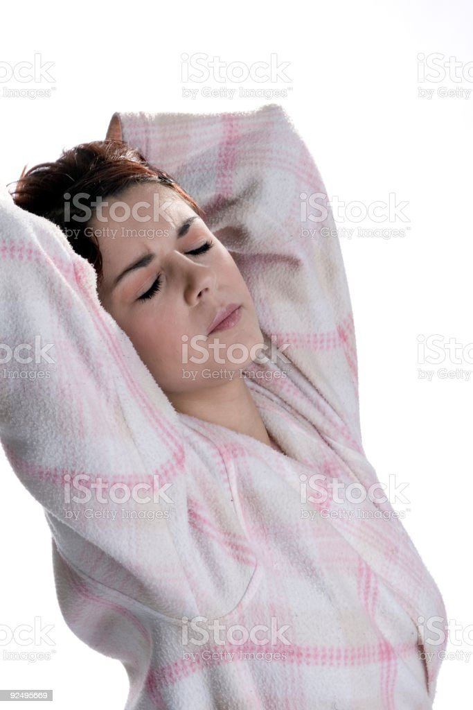 early morning stretch royalty-free stock photo