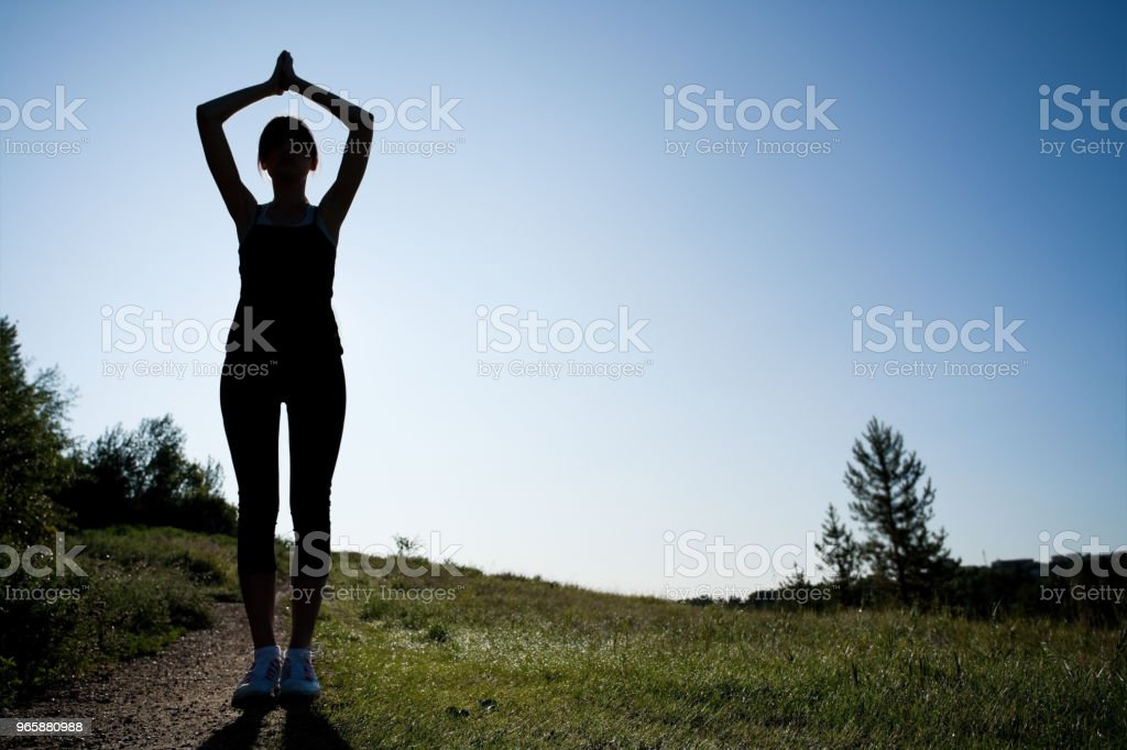 Early morning stretching - Royalty-free 16-17 Years Stock Photo