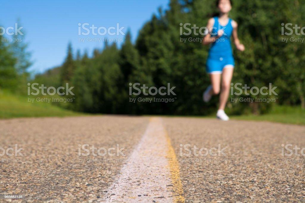 Early morning summer jog - Royalty-free 16-17 Anos Foto de stock