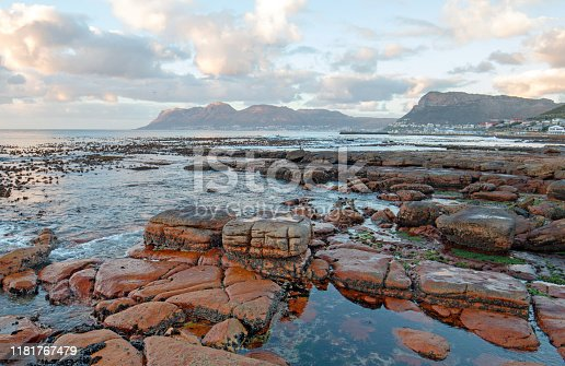 Early morning sunlight over St James Beach in Cape Town South Africa