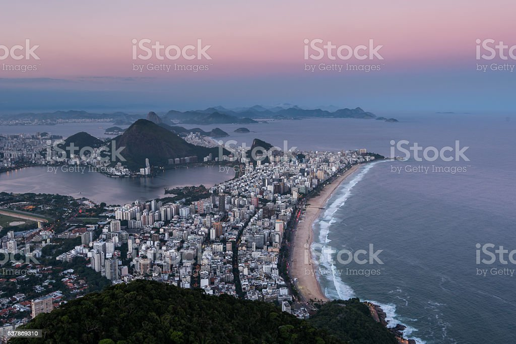 Early Morning Sunrise in Rio de Janeiro stock photo