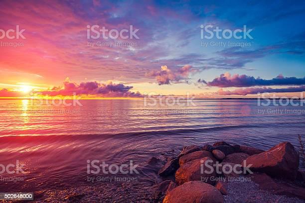 Photo of Early morning , sunrise over sea