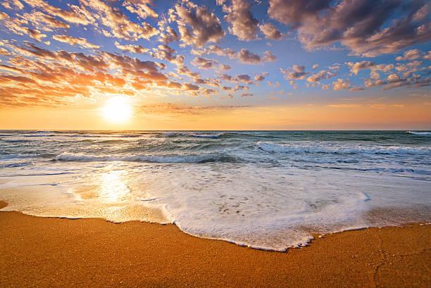 Early morning , sunrise over sea. stock photo