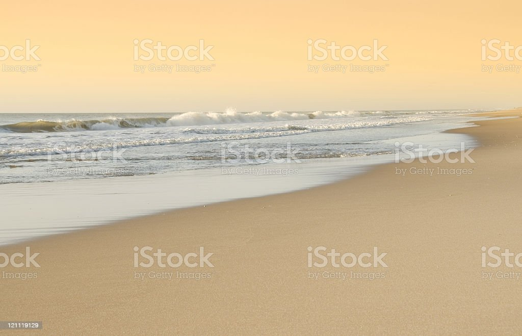 Early Morning Surf - Bethany Beach, Delaware stock photo