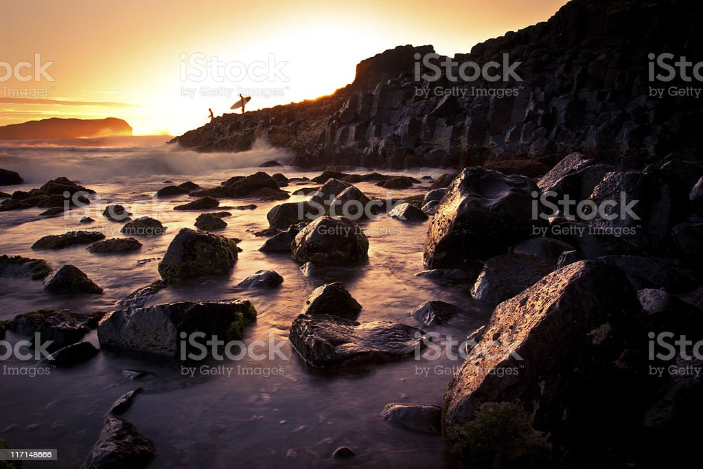 Early Morning Surf royalty-free stock photo