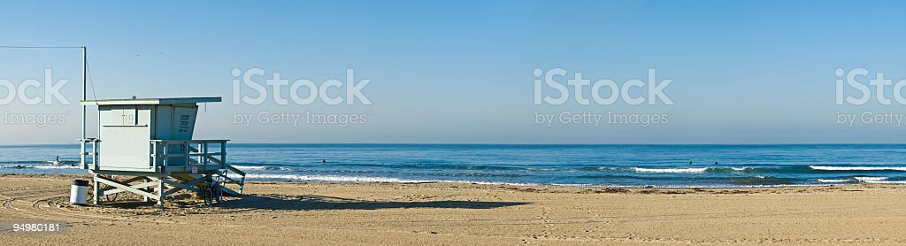 Early morning surfers royalty-free stock photo