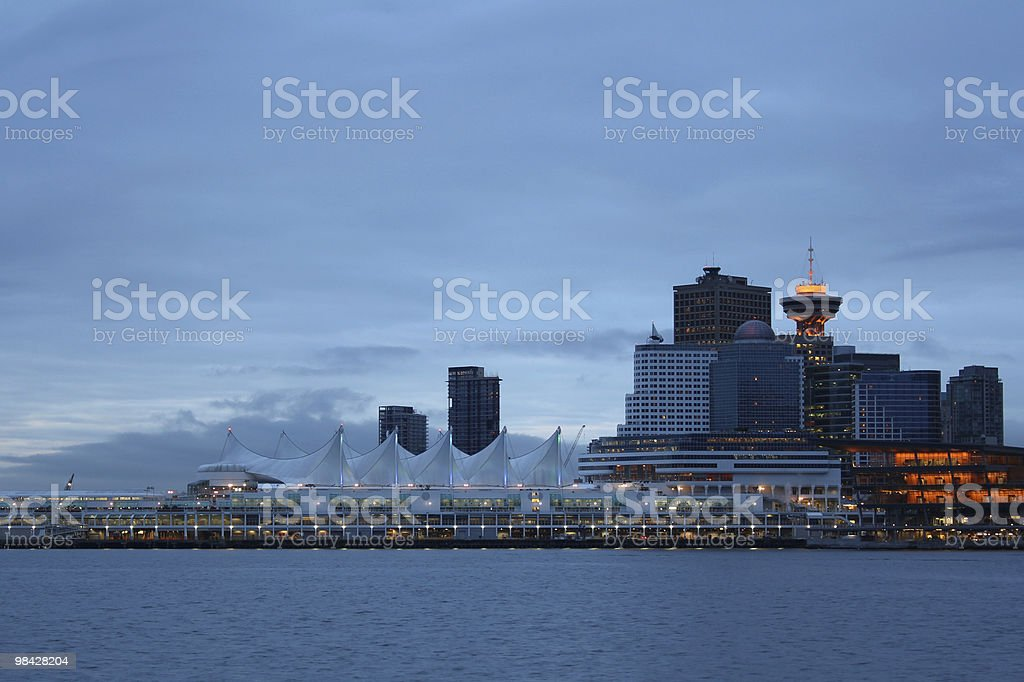 Early Morning, Vancouver Skyline royalty-free stock photo