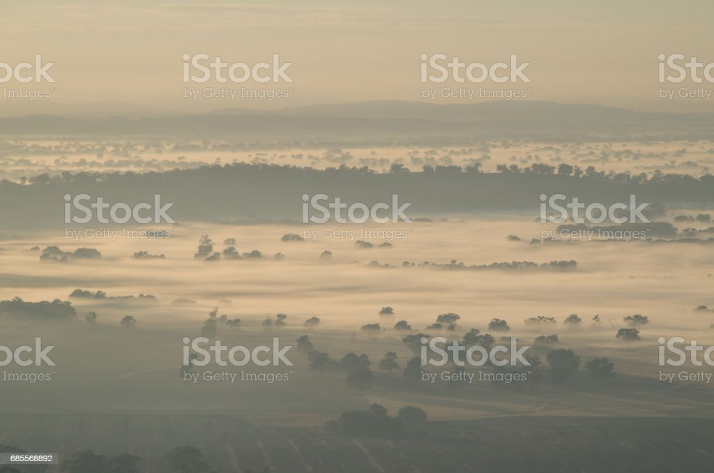 Early morning view from Mount Major at Dookie, Australia 免版稅 stock photo